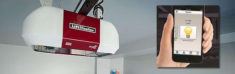 With a LiftMaster garage door opener and the MyQ app control your garage door anywhere.