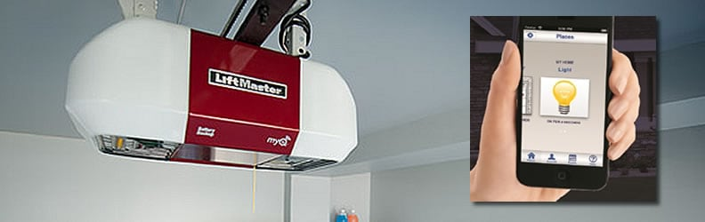 With a LiftMaster garage door opener and the MyQ app control your garage door anywhere.