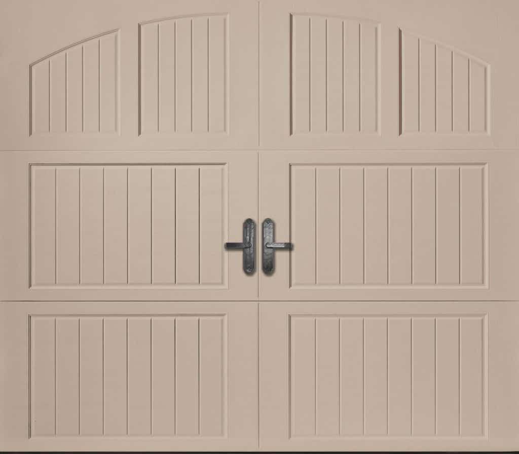 Classica northampton garage door white 9 x 8 no windows -  Amarr Classica Collection Cortona Closed Arch