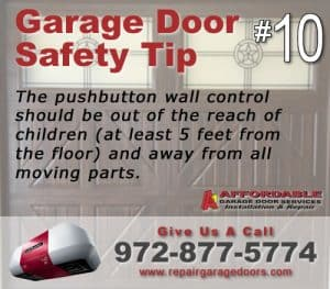 Garage Safety Tip 10 - Wall Mount Button