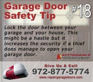 Garage Safety Tip 18 - Lock your door
