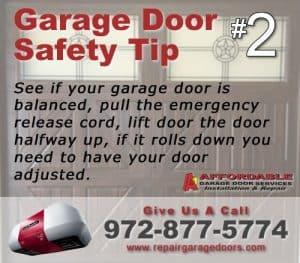 Garage Safety Tip 2 - Door Balence