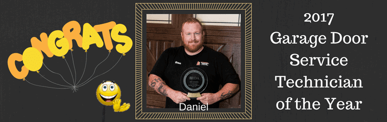 Repair garage doors Service Technician of the year