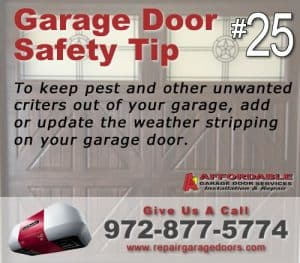 Garage Safety Tip 25 - Add weather strip