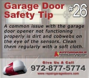 Garage Safety Tip 26 - Clean the sensors