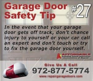 Garage Safety Tip 70 - Off track door