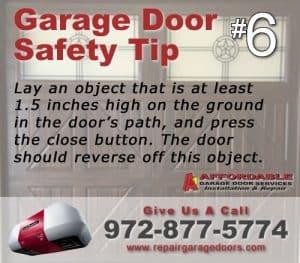 Garage Safety Tip 6 - Block Test