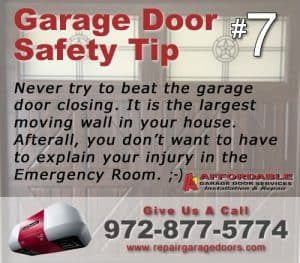 Garage Safety Tip 7 - Door Race Game