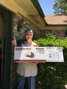 Sandy S winner of National Garage Door Safety LiftMaster 8550W Garage Door Opener